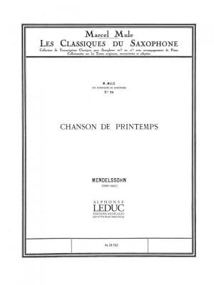 Felix Mendelssohn Bartholdy: Chanson de Printemps Op.62 No.6 in A major