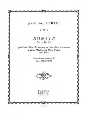 Jean-Baptiste Loeillet: Sonate Op5 N04