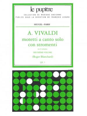 Antonio Vivaldi: Mottetti A Canto Solo Con Stromenti Vol. 2