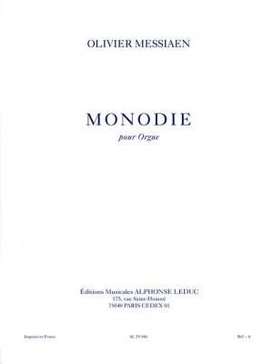 Olivier Messiaen: Monodie