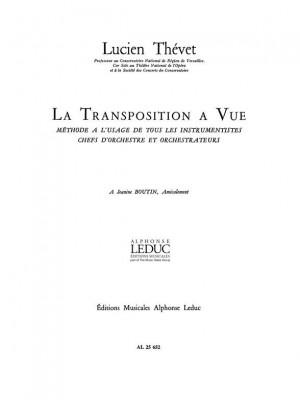 Lucien Thévet: Lucien Thevet: Transposition a Vue