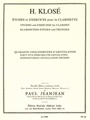 Hyacinthe-Eléonore Klosé: 45 Exercises