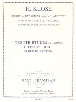 Hyacinthe-Eléonore Klosé: 30 Etudes D'Apres Aumont