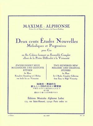 Alphonse: 200 Études Nouvelles Mélodiques et Progressives