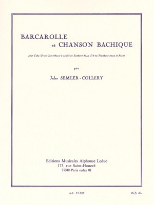 Jules Semler-Collery: Barcarolle and Bacchanalian Song