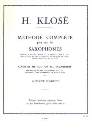 Hyacinthe-Eléonore Klosé: Methode de Saxophone Complet