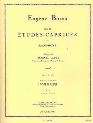 Eugène Bozza: 12 Etudes-Caprices For Saxophone Product Image