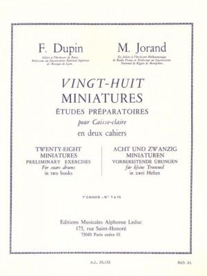 François Dupin_Marcel Jorand: 28 Miniatures Études Préparatoires for Snare Drum