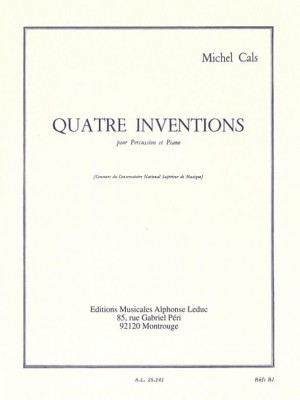Cals: Four Inventions for Percussion and Piano