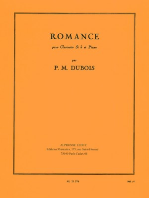 Pierre-Max Dubois: Romance For Clarinet And Piano