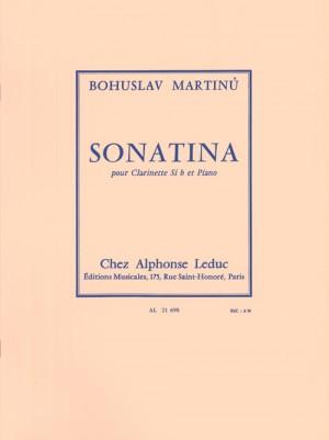 Bohuslav Martinu: Sonatina For Clarinet And Piano H.356