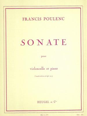 Francis Poulenc: Sonata For Cello And Piano