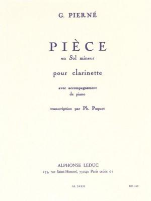 Gabriel Pierné: Pièce in G minor (Clarinet)