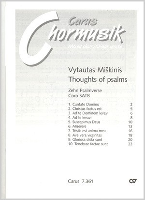 Miskinis: Psalmverse. Thoughts of Psalms