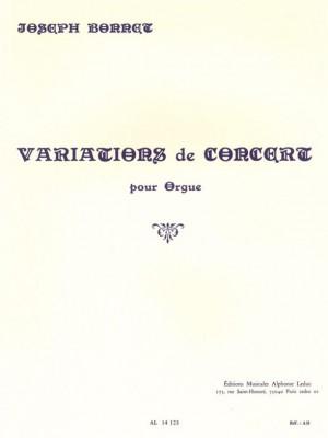 Bonnet: Variations De Concert