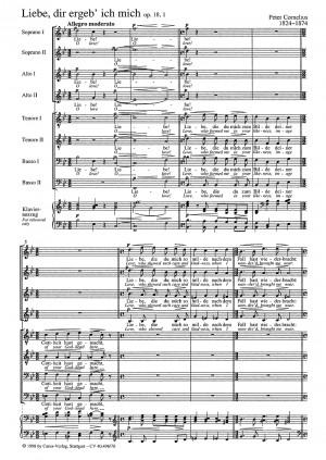 Cornelius: Liebe, dir ergeb' ich mich (Op.18, no. 1; B-Dur)