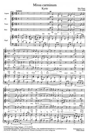Eham: Missa carminum (F-Dur)