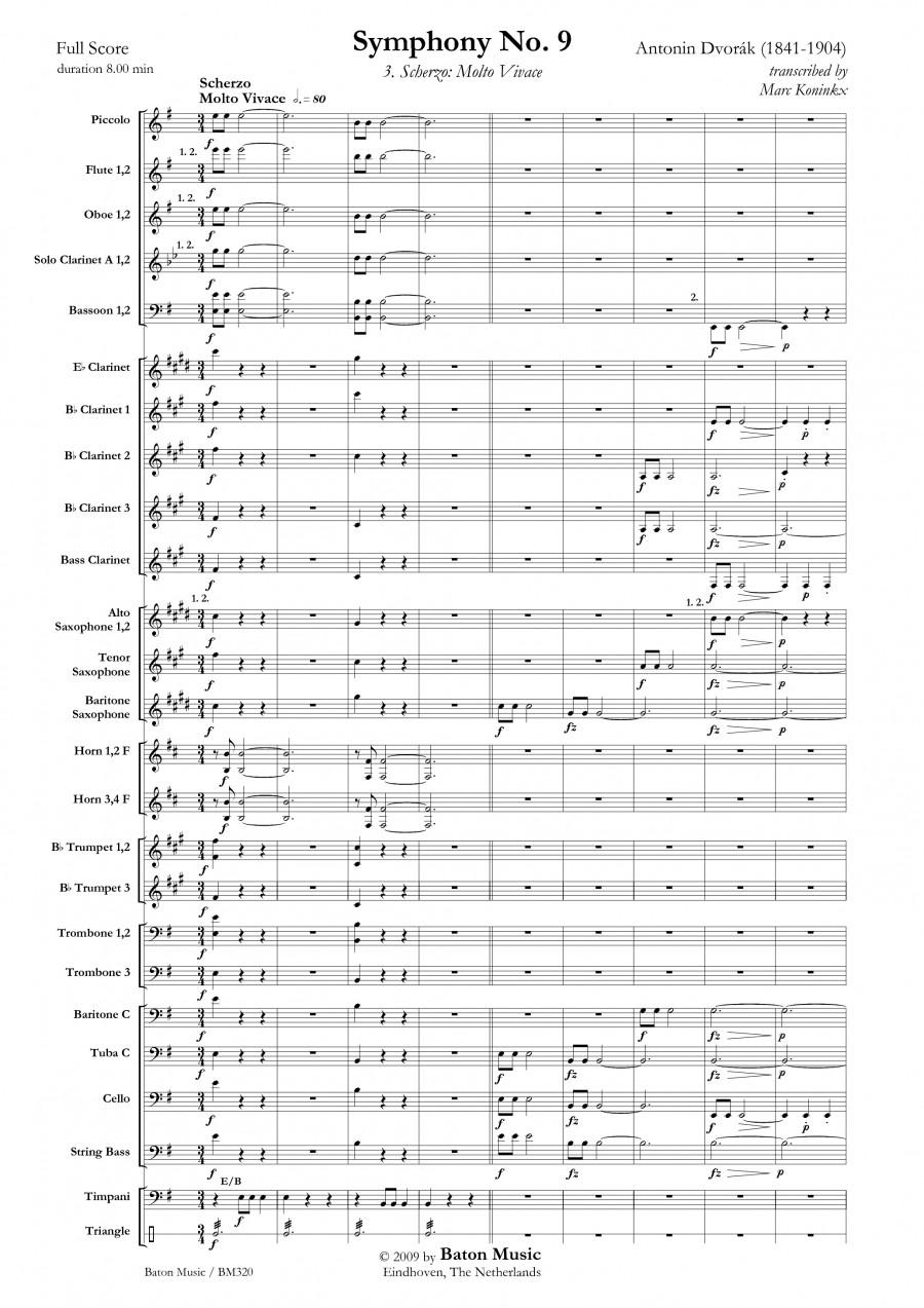 Antonín Dvořák: Symphony nr  9 E minor   Presto Sheet Music