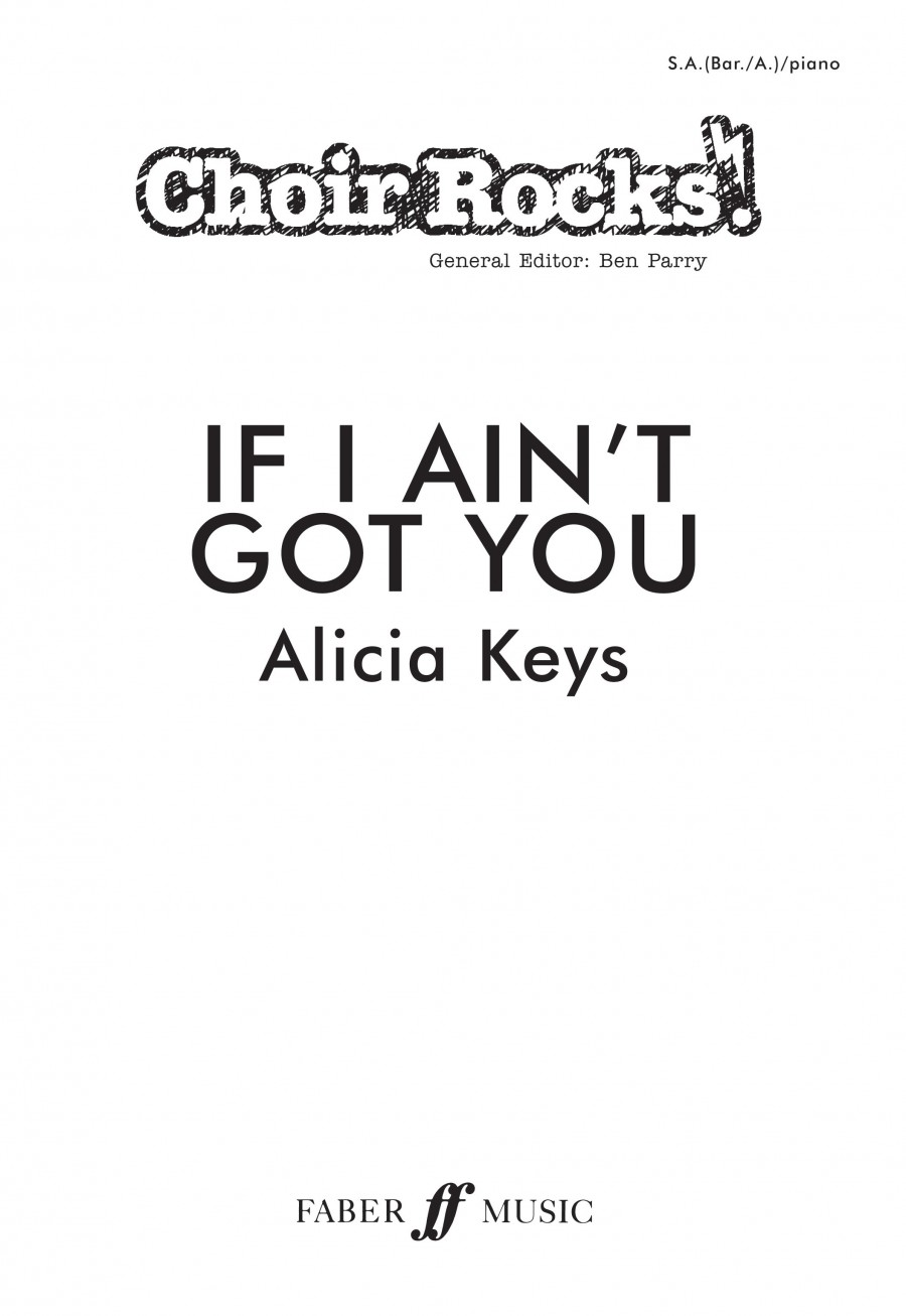 alicia keys piano if i aint got you