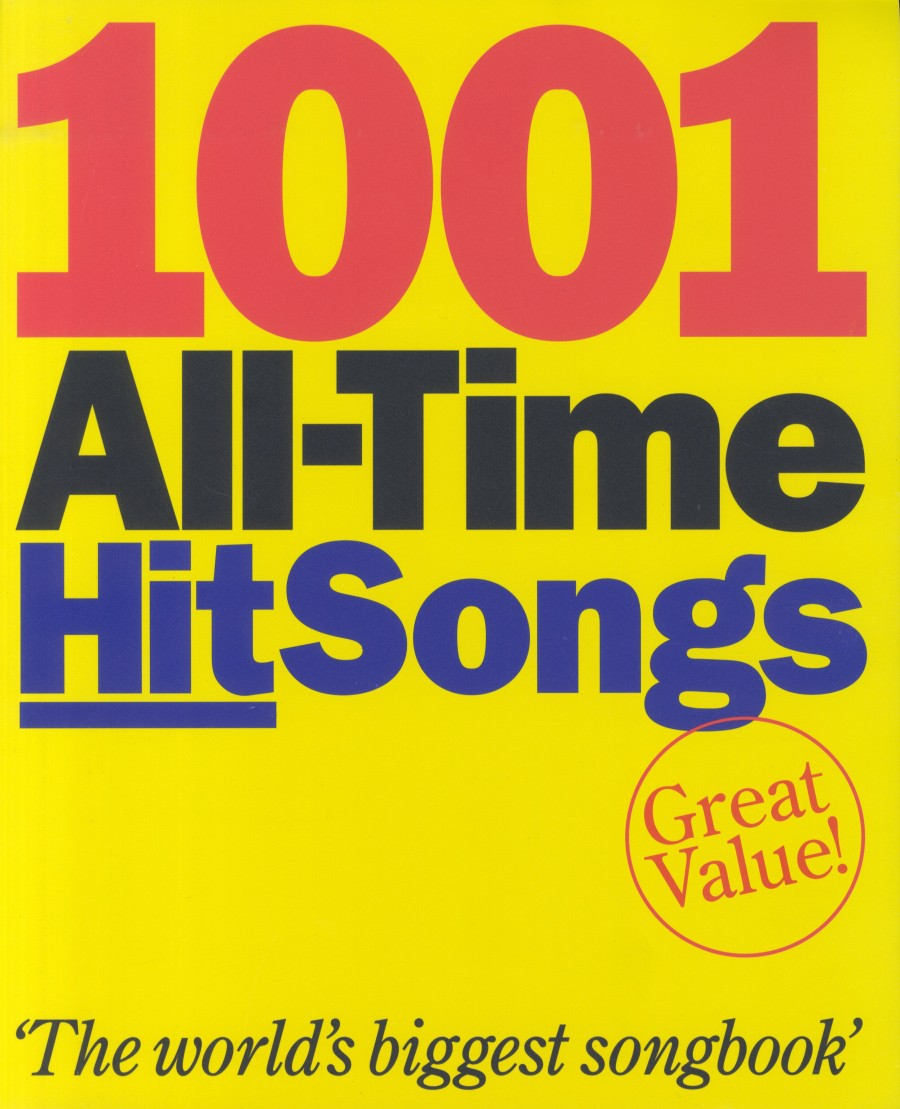 1001 all time hit songs presto sheet music