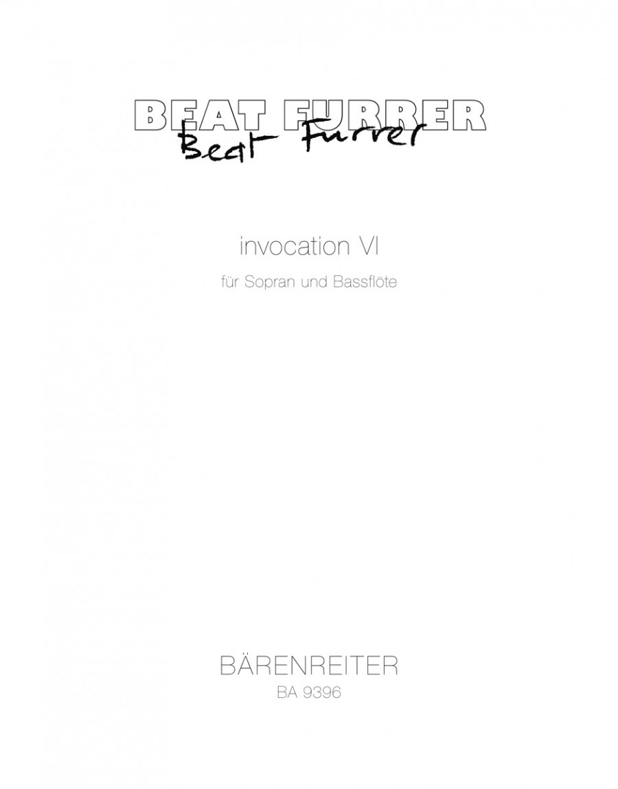 Beat Furrer: Invocation VI for soprano and bass flute