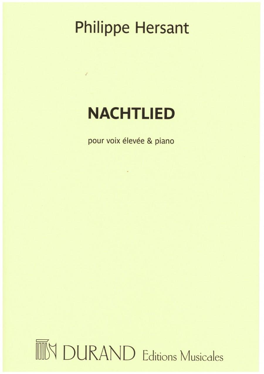 Philippe Hersant Nachtlied Sur Un Poeme De Georg Trakl