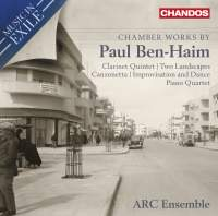 Music in Exile Vol. 1: Chamber Music by Paul Ben-Haim