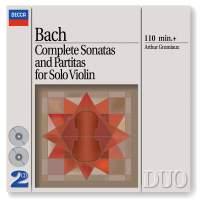 Bach - Complete Sonatas & Partitas for Solo Violin