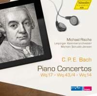 C P E Bach: Piano Concertos, Wq. 17, 43/4 & 14