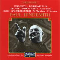 Hindemith: Symphony for Concert Band, Berg: Chamber Concerto
