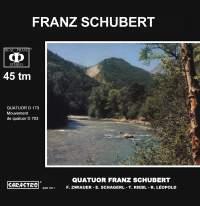 Schubert: Quatuor, D173 & Mouvement de quatuor, D703