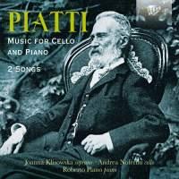 Piatti: Music For Cello And Piano & 2 Songs