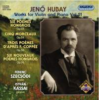 Hubay - Works for Violin & Piano Vol. 11
