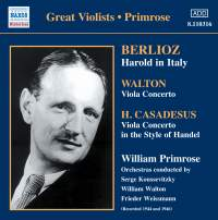 Great Violists - Primrose
