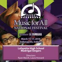 2018 Music for All (Indianapolis, IN): Lafayette High School Madrigal Singers [Live]