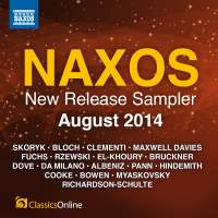Naxos August 2014 New Release Sampler