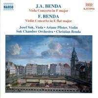 Benda, G: Viola Concerto in F major, etc.