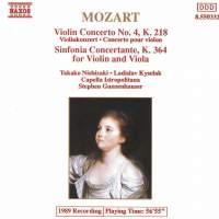 Mozart: Violin Concerto No. 4 & Sinfonia Concertante