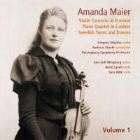 Amanda Maier: Violin Concerto, Piano Quartet and other works