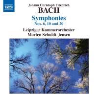J C F Bach: Symphonies Nos. 6, 10 & 20