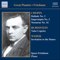 Great Pianists - Ignaz Friedman