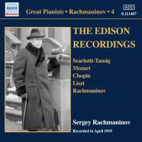 Rachmaninov: The Edison Recordings, April 1919