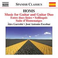 Joachim Homs: Music for Guitar and Guitar Duo