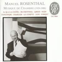 Rosenthal: Musique De Chambre