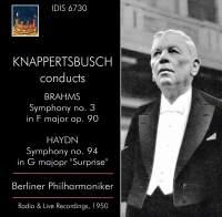 Brahms: Symphony No. 3 - Haydn: Symphony No. 94