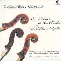 Cervetto: 6 Sonatas for 3 Violoncellos