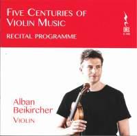 Five Centuries of Violin Music