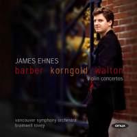 Barber, Walton and Korngold: Violin Concertos