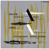 Franck: Cello Sonata in A Major, FWV 8 & Grieg: Cello Sonata in A Minor, Op. 36 (Remastered)