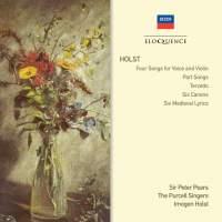 Holst: Songs, Terzetto, Canons & Medieval Lyrics